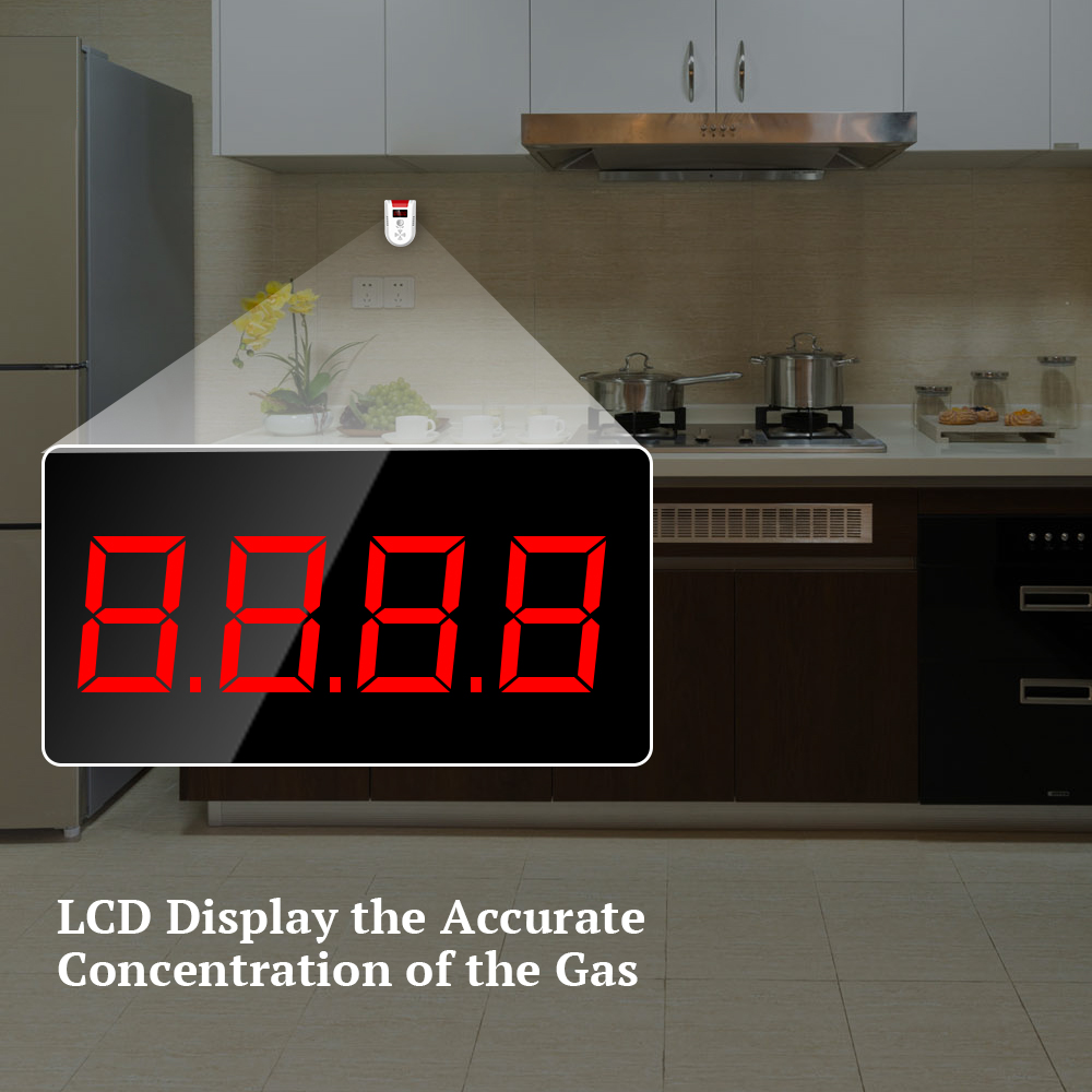 Kerui gd13 lpg gas detektor alarm wireless digital led display - Schutz und Sicherheit - Foto 3