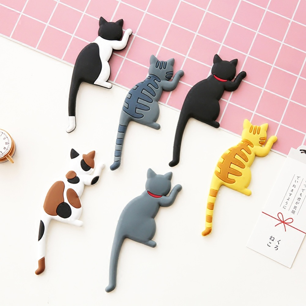 New Creative Multifunction Cat/Dog Magnetic Wall Mount Keys Hook Refrigerator Sticker Fridge Magnet Hanging Hook Door Decor