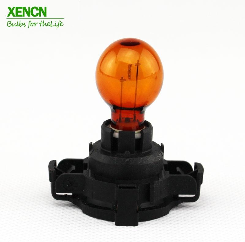 цены XENCN PY24W PGU20-4 12190 12190NAC1 12V 24W Amber Car Front Rear Indicators Bulb E4 For BMW