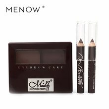 MENOW double color eyebrow powder with eyebrow brush + two color Eyeliner Pen is waterproof and three-dimensional.Lasting E12002
