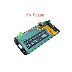 Image 4 - 100% test 5.1 süper AMOLED ekran SAMSUNG Galaxy S6 kenar LCD G925 G925I G925F dokunmatik ekran digitizer çerçeve ile