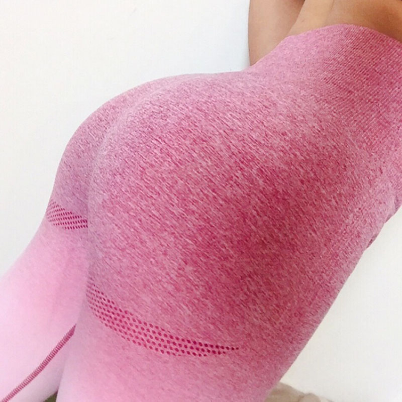 Fitness Stretchy Energy Ombre Seamless   Leggings   Push Up High Waist Workout Pants Jogging Sporting Quick Dry Athleisure   Leggings