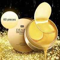 60 Pcs Gold Seaweed Eye Patches Mask Crystal Collagen Eye Mask Anti-Wrinkle Anti Aging Remove Dark Circles Eye Care