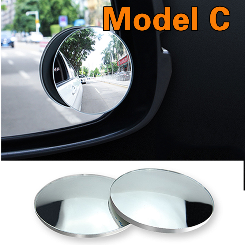 HTB13PsVQXzqK1RjSZFCq6zbxVXaV 2pcs/lot Car Accessories Small Round Mirror Car Rearview Mirror Blind Spot Wide angle Lens 360 degree Rotation Adjustable