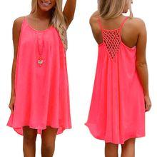 Модные летние женские мягкие шифоновые вечерние платья без рукавов