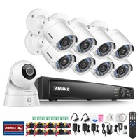 ANNKE 9CH 1080P DVR With 8 Outdoor Security HD Camera System Smart Search 1 Wifi 1080p