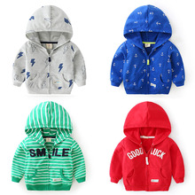 Fashion boys clothes jacket coat autumn zipper jacket for baby kids cotton hoodies coat children boys tops outwear windbreaker 2019 fashion boys jacket hoodie cardigan coat kids zipper closure cute dinosaur print top outwear coat for girls boys clothing