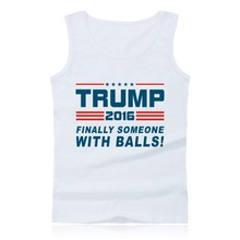 Donald Trump Summer Tank Top Men Street Vest and Make America Great Again Bodybuilding Sleeveless Shirts Plus Size