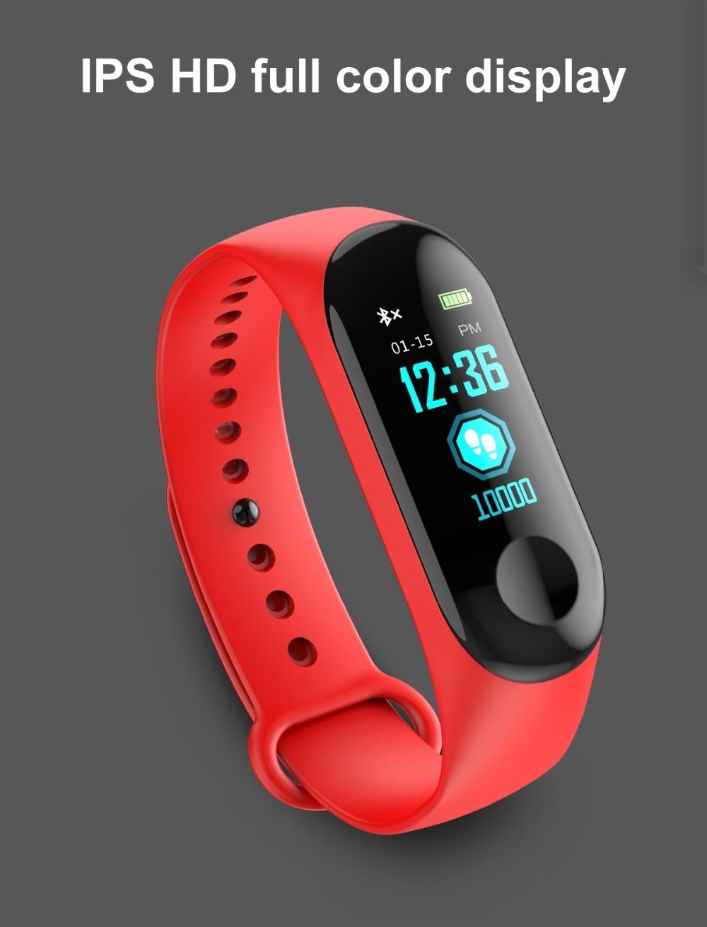 Torntisc W3 Fitness Bracelet Color-screen IP68 Waterproof blood pressure Oxygen Monitor sport Heart Rate Smart band pk mi band 3 (2)