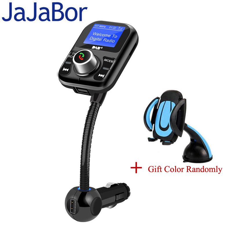 JaJaBor Car Radio Receiver Auto DAB FM Transmitter Digital Audio Broadcasting Bluetooth Handsfree Support TF Card / U Disk car dab radio receiver fm transmitter handsfree bluetooth radio in car dab radio tuner with antenna support tf card