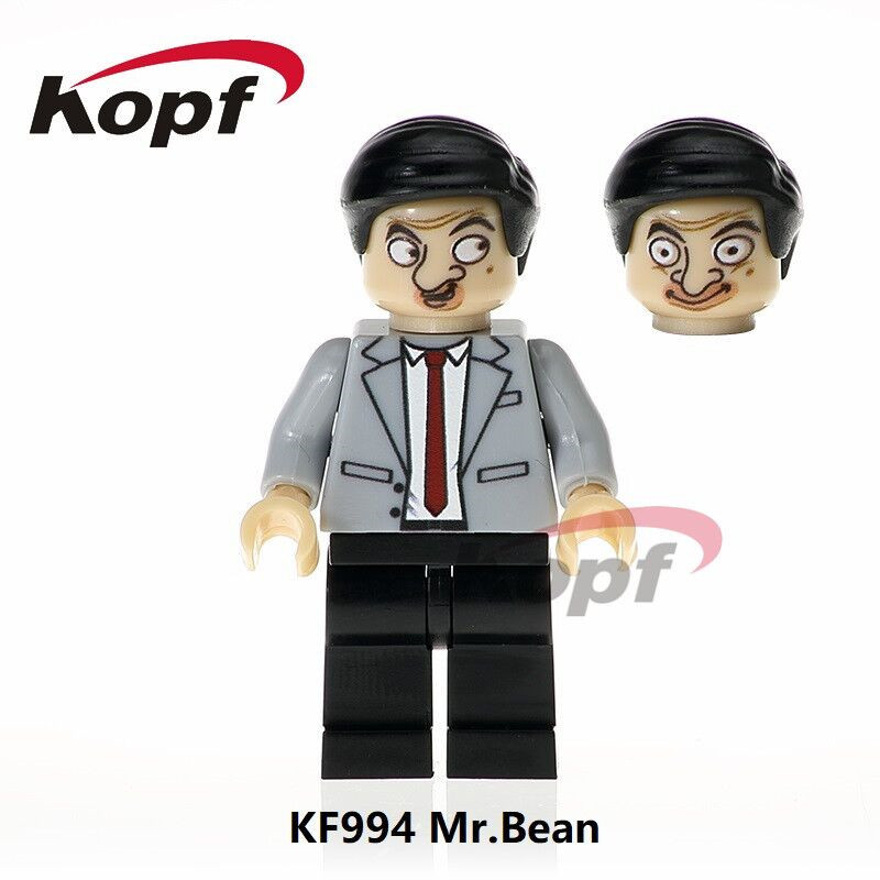 Single Sale Super Heroes Mr.Bean Funny Movie and Cartoon Character Figures Bricks Model Building Blocks Children Gift Toys KF994 da045 single sale the day of the dead coco movie hector miguel building blocks bricks best learning doll for children gift toys
