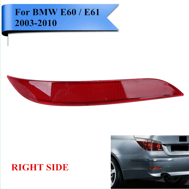 Right Red Len Rear Bumper Reflector Fog Warning Light For BMW E60 E61 5-Series 2003-2010 OEM 63146915040 Car-Styling #W105-R