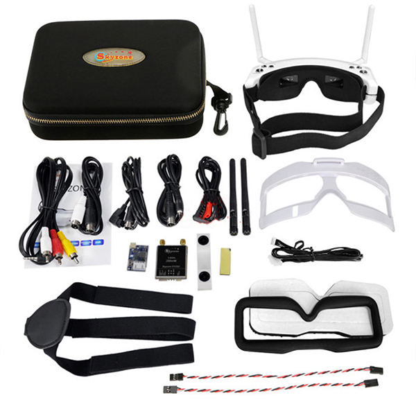 SKYZONE 3D FPV 5.8G 40CH Diversity Receiver Wireless Head Tracing GOGGLE / Video Glasses SKY02S V+ W/ HDMI in & Auto scan - 5