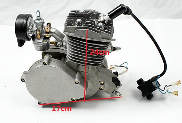 2f4a79818a2 80CC 2 Stroke 47MM Motorized Bicycle Bike Motor Engine Kits With 2L Fuel  Tank-in Engines from Automobiles & Motorcycles on Aliexpress.com | Alibaba  Group
