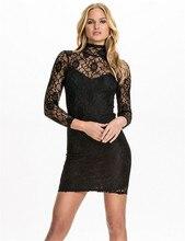 Drop Shipping figure flattering Autumn style turtle neck long sleeve black lace plus size women vestidos bodycon office dresses