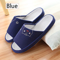 New 2017 Anti-slip Summer Indoor Home Slippers Animal Open Toe Home Shoes Women Breathable Casual Blue Red Winter Slippers Men