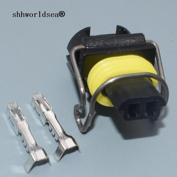 shhworldsea 2 pin AUTO Caterham car electrical nozzle plug auto waterproof female wire harness connector for Excavator Carter