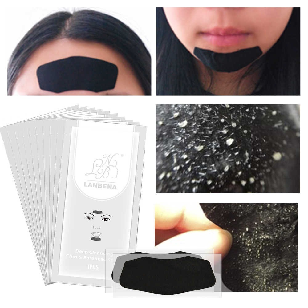 1Pc 3in1 Blackhead Remover Forehead and Chin Strips Mask Acne Deep Cleansing Skin Acne Black Mask Peeling Nasal Sticks TSLM2