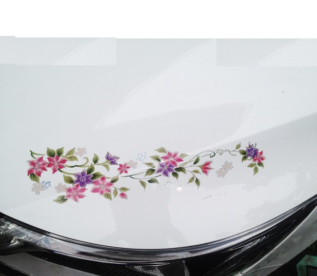 Stickers Auto Flower PromotionShop For Promotional Stickers Auto - Waterproof promotional custom vinyl stickers