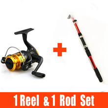 2.1M-3.6M Portable Travel Spinning Fishing Rod Carbon with  Fishing Reel Rod Combo Fishing Set Telescopic fishing rod