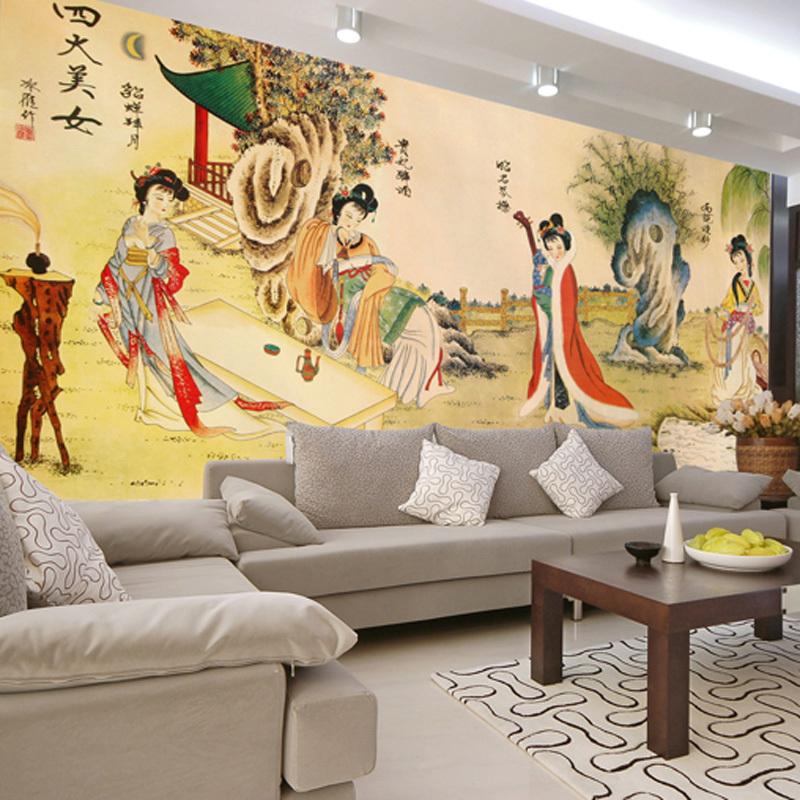 Exquisite Wall Coverings From China: Can Customized Large 3d Mural Wall Paper TV Sofa