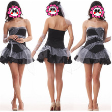 Abbille Latex Fancy Women Black Tutu Dress Sexy Queen Cosplay Halloween Costume Fast & Buy sexy queen halloween costume and get free shipping on AliExpress.com