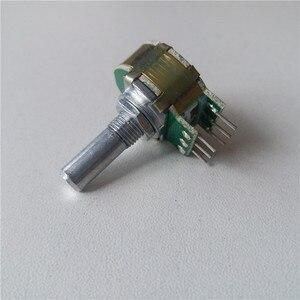 1 шт., ступенчатый потенциометр, 21 цифра, шаг A10K A20K A50K A100K A250K, потенциометр с прогрессивной ручкой, 20 мм, двойной, для Hi-Fi усилителя