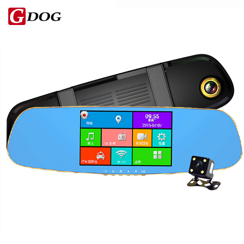 5.0 inch IPS Touch Android Car GPS Navi ROM 16GB Dual Camera parking rear view mirror car camera recorder 1080P Car DVR A33 Quad car mp5 player bluetooth hd 2 din 7 inch touch screen with gps navigation rear view camera auto fm radio autoradio ios