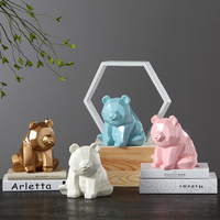 Geometric Panda Models Decor Animal Ornaments Resin Ornaments Home Desktop Decoration Animal Lucky Best Gift