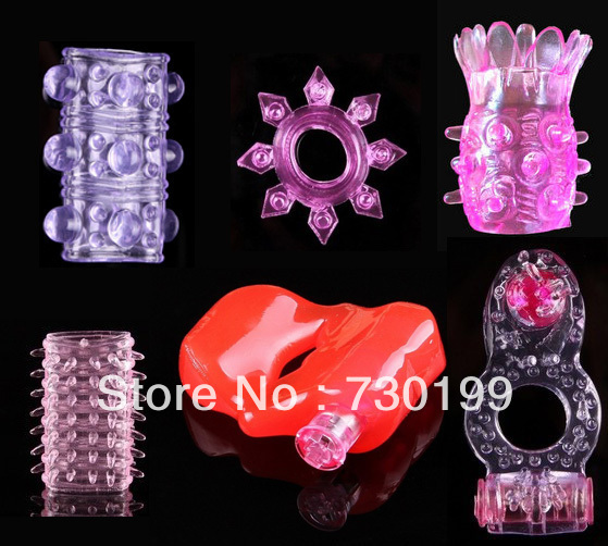 6 models vibrating penis ring , cock ring, dildo enhancer, penis delay ring, sex toy for men s301