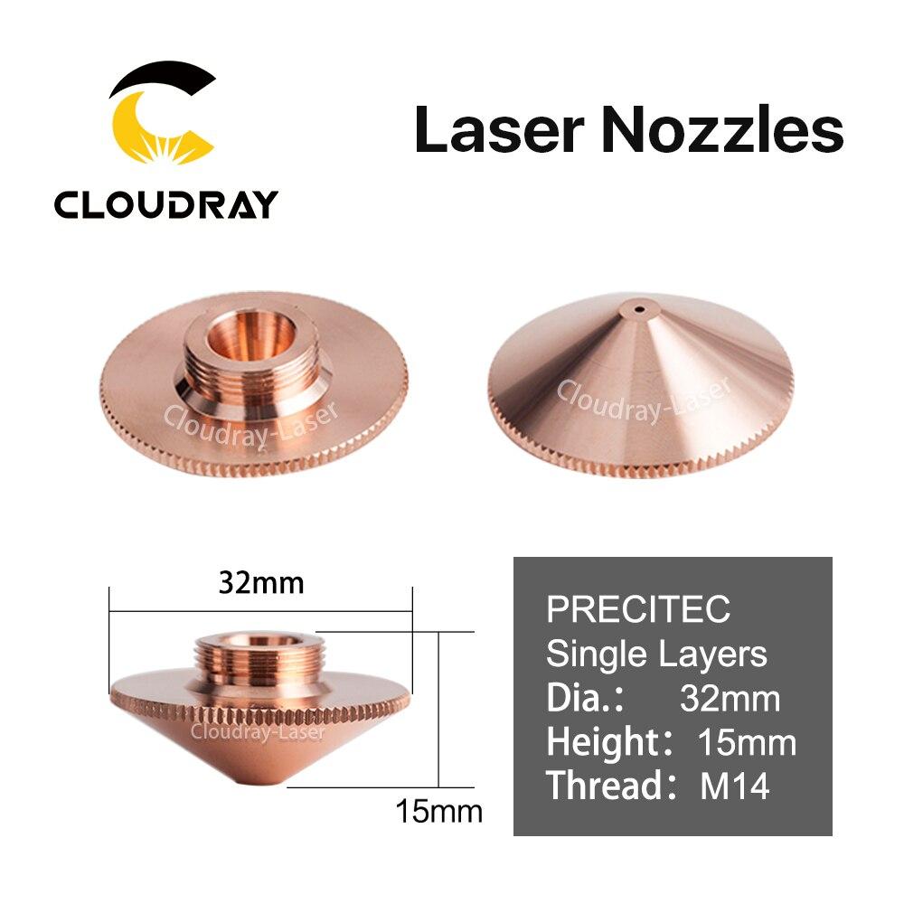 Cloudray Laser Düse Einzelne Schicht Dia.32mm Kaliber 0,8-4.0HD für Raytools Befähigen BT230/240 1064nm Faserlaser Schneiden kopf