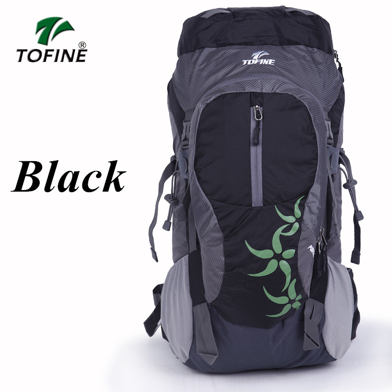 TOFINE Professional Waterproof outdoor backpack Rucksack Internal Frame Climbing Camping Hiking Backpack Mountaineering Bag free shipping professional waterproof rucksack internal frame climbing camping hiking backpack mountaineering bag 60l