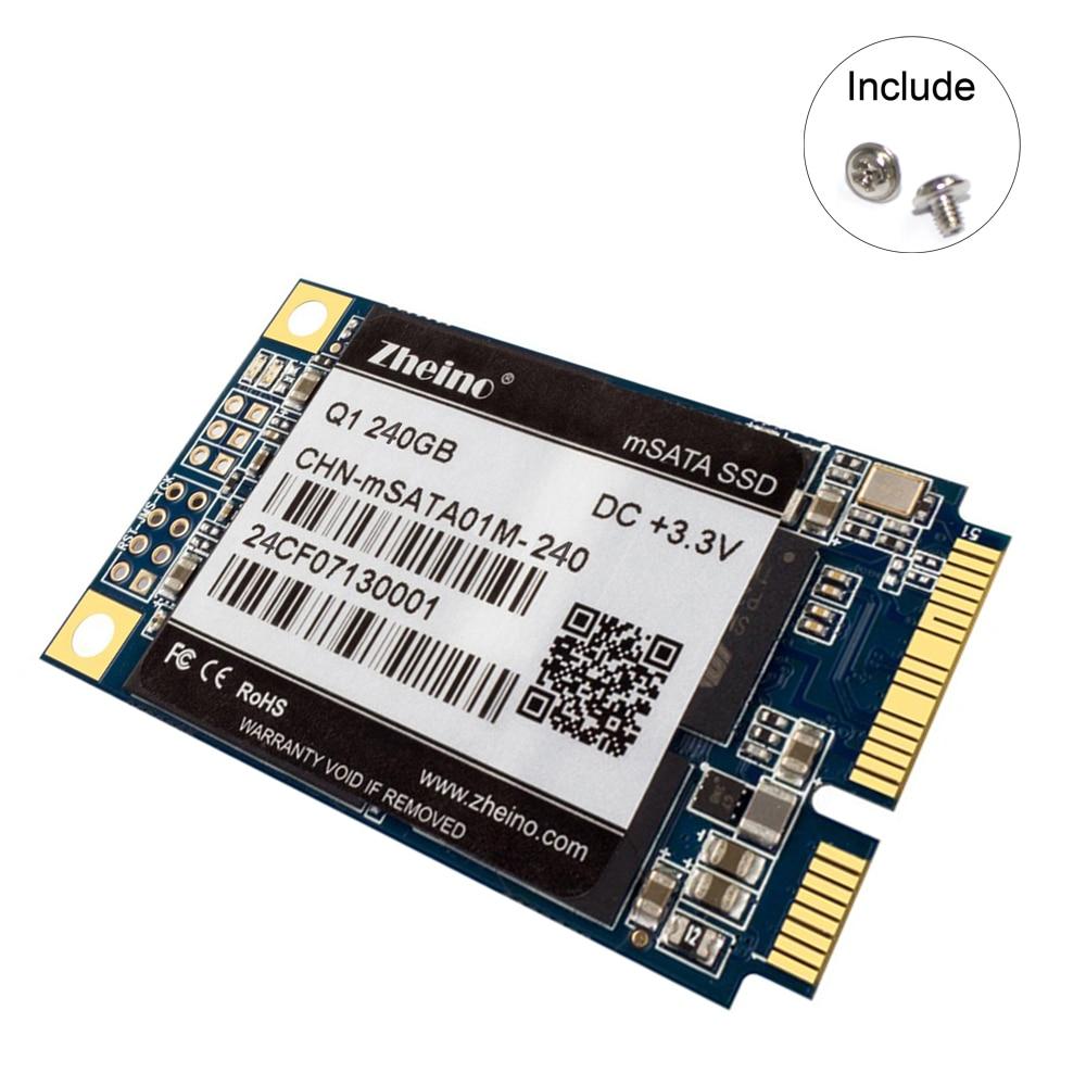 Zheino Q1 mSATA SATAIII 240 gb SSD SATA3 6 gb/s MLC NAND FLASH Interne Solid State Drive Pour PC de Table ordinateur portable Portable