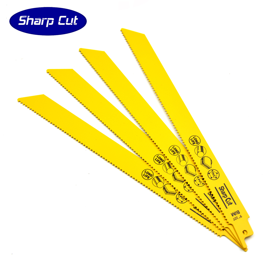 50% OFF Free Shipping:9 inch  Bi-metal M42 Reciprocating Saw Blade 10TPI Fast Cutting Metal Wood and Plastic ,Sabre Saw Blades 10pcs jig saw blades reciprocating saw multi cutting for wood metal reciprocating saw power tools accessories rct