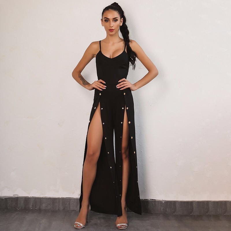 b31ef58278c Joyfunear Woman Sleeveless Backless Tight Jumpsuits Sexy Overalls Night  Club Rompers Party Playsuit Bodycon Macacao Jumpsuit-in Jumpsuits from  Women s ...