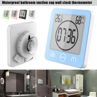 Alarm Clock Thermometer Shower Suction Cup Countdown Timer Portable Waterproof For Bathroom WXV Sale