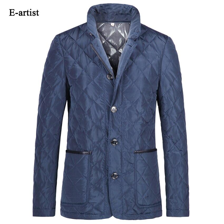 E-artist Men's Slim Fit Casual Winter Duck Down Jackets Coats Male Warm Ultralight Stand Parka Outwear Overcoat Plus Size 5XL Y7