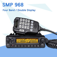 SMP 968 50W Mobile Radio Transceiver VHF UHF Quad Band Car Radio Station CB Walkie Talkie for Truckers Ham Radio Toky Woky