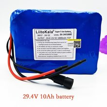 liitokala 7s5p new victory 24V 10Ah lithium battery electric bicycle 18650 24V (29.4V) Li ion does not contain loader(China)