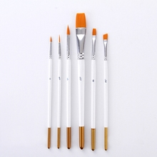 6Pcs Painting Brushes Set Nylon Hair Artist Oil Painting Brush for Watercolor Acrylic Drawing School Student Art Supplies