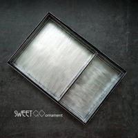 SWEETGO Vintage Silver Combination Tray Rectangle Pallet Afternoon Tea Ceremony Cupcake Plate For Dessert Table Food
