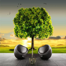 Custom wallpaper dreamy beautiful high-definition big tree mood sofa living room wall high quality material waterproof