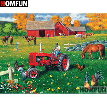 HOMFUN 5D DIY Diamond Painting Full Square/Round Drill  Tractor scenery Embroidery Cross Stitch gift Home Decor Gift A09115 homfun 5d diy diamond painting full square round drill tractor scenery embroidery cross stitch gift home decor gift a09181