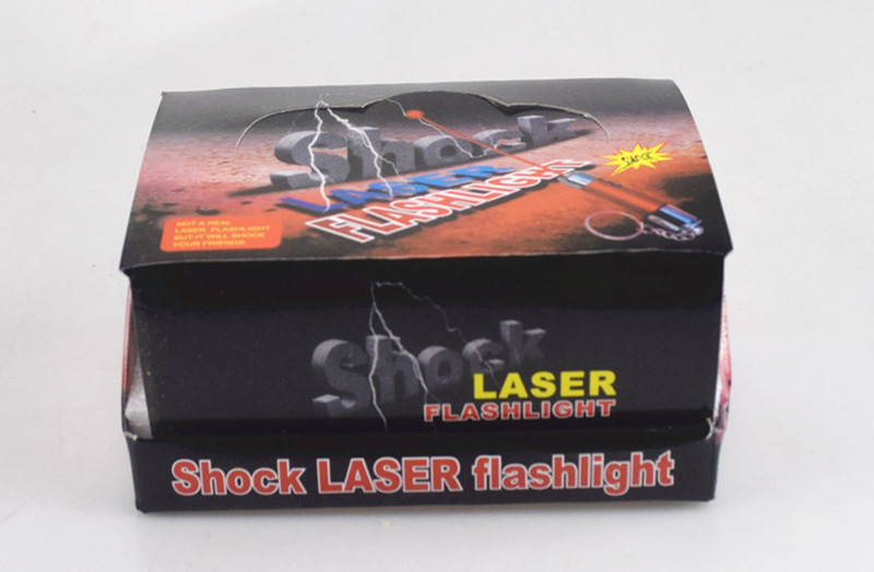 [Nouveau] 24 pcs/lot poisson d'avril jour de choc électrique balle laser lampe blague jouet astuce jouets porte-clés cadeau blagues jouet de fête - 6