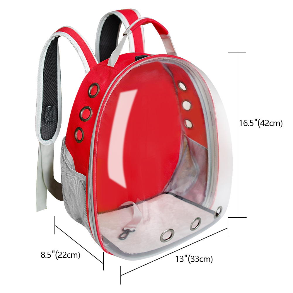 Cat Carrier Bag Breathable Transparent Puppy Cat Backpack Cats Box Cage Small Dog Pet Travel Carrier Handbag Space Capsule 4