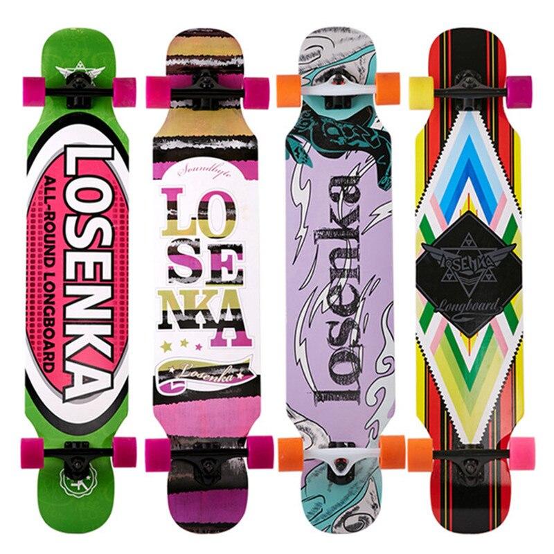 Professional Small Dancing Longboard Deck 107CM For Adults Youth Freestyle Street Road Skate Longboard Dance Skateboard