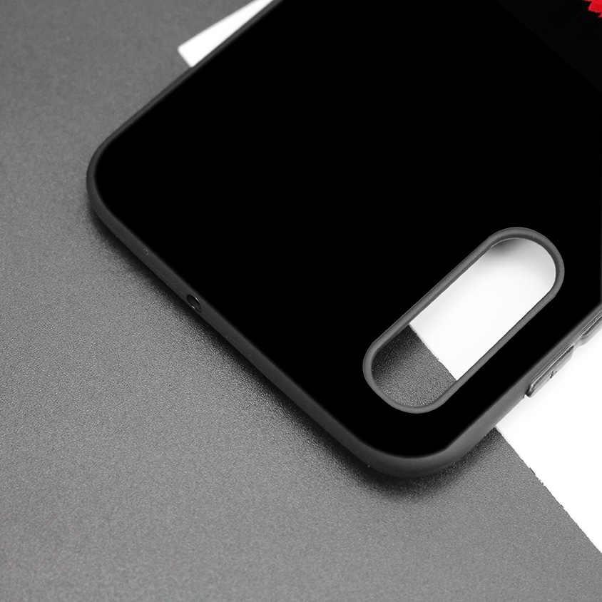 الأعمال نمط الأسود الداكن سيليكون حقيبة لهاتف سامسونج غالاكسي A50 A30 A10 M30 الهاتف لينة الحالات غطاء قذيفة كوكه الأحمر المخملية K البوب