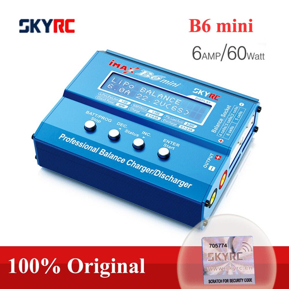 Original SKYRC IMAX B6 MINI cargador de balanza-Descargador para RC helicóptero-Pico NIMH/NICD aviones + adaptador de corriente (opcional)