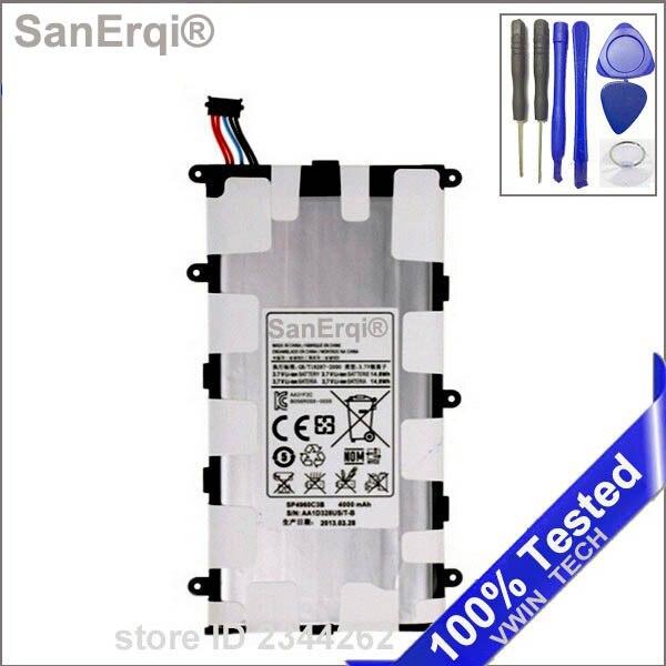 SanErqi Nouveau SP4960C3B 4000 mAh Batterie Pour Samsung Galaxy Tab 2 7.0 P3100 P6200 P3110 Tab 7.0 Plus La Batterie