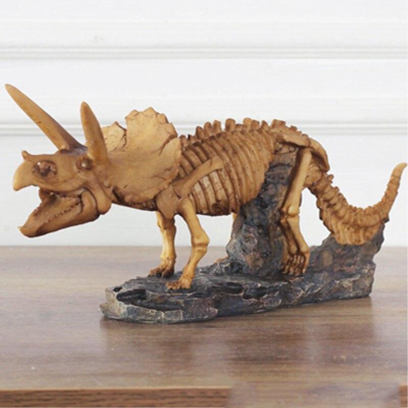 Résine tricératops décoration Vintage dinosaure fossile artisanat individualité décoration style scandinave Halloween cadeau